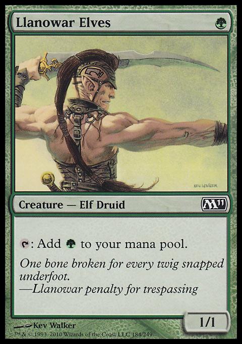 Llanowar Elves original card image