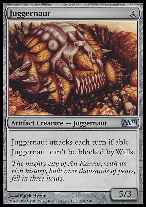 Juggernaut card from Magic 2011