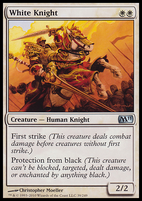 White Knight card from Magic 2011