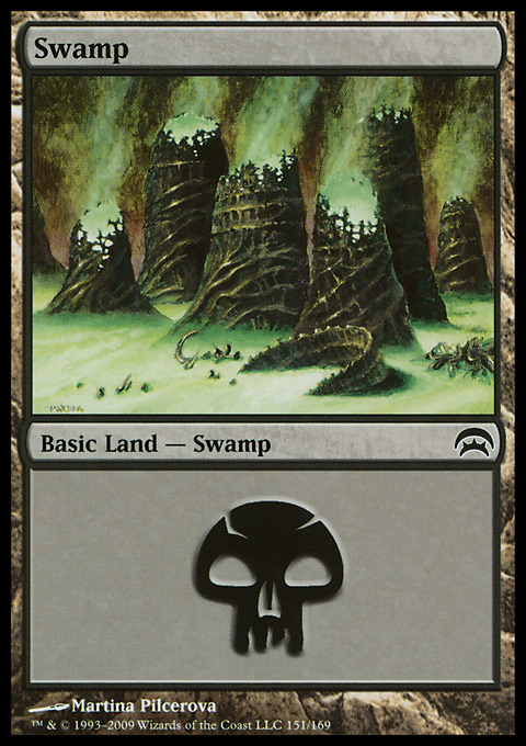 Swamp (151) card from Planechase