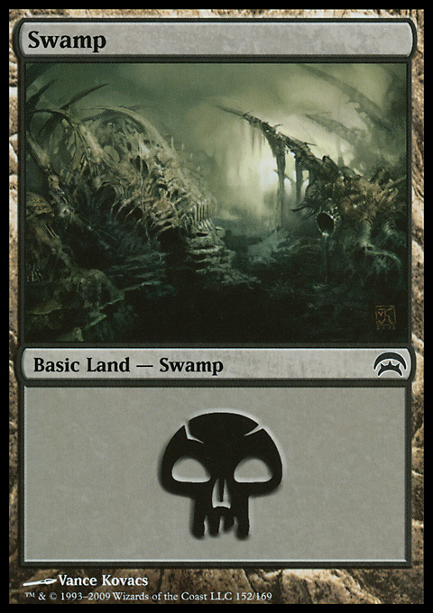 Swamp (152) card from Planechase