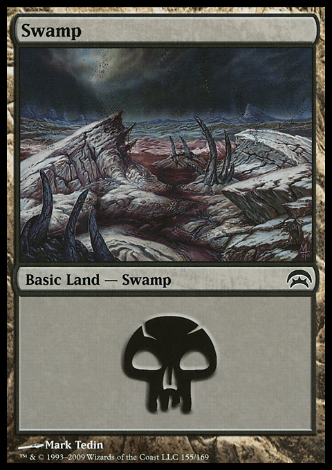 Swamp (155) card from Planechase