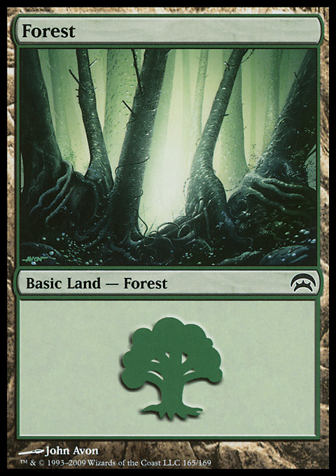 Forest (165)  card from Planechase