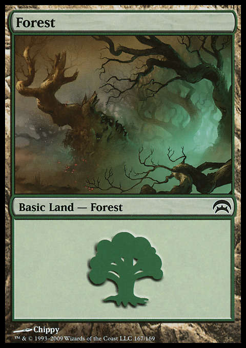 Forest (167)  card from Planechase