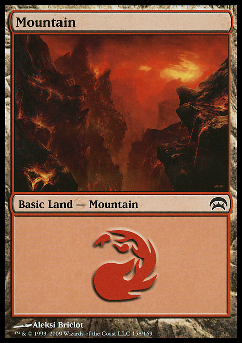 Mountain (158)  card from Planechase