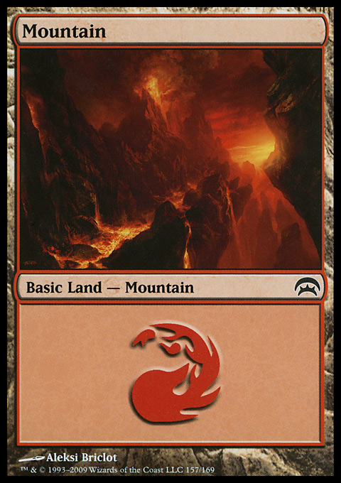 Mountain (157)  card from Planechase