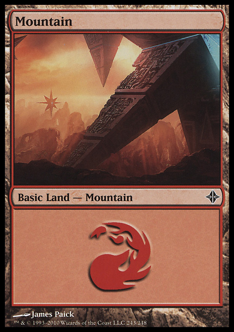 Mountain (243) card from Rise of the Eldrazi
