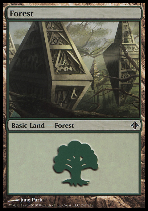 Forest (247) card from Rise of the Eldrazi