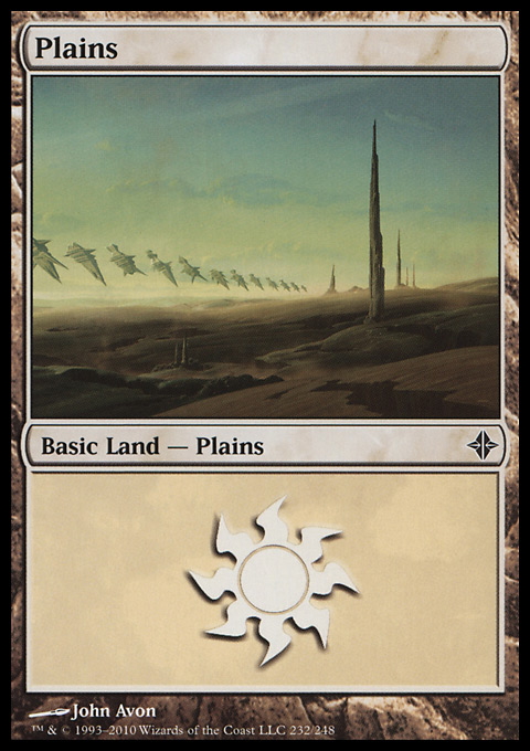 Plains (232)  card from Rise of the Eldrazi