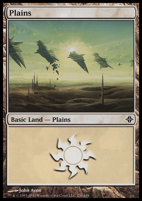 Plains (231)  card from Rise of the Eldrazi