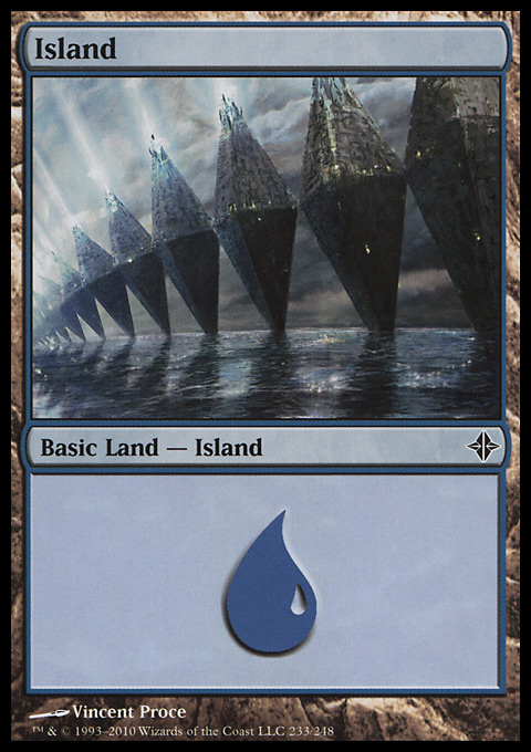 Island (233)  card from Rise of the Eldrazi