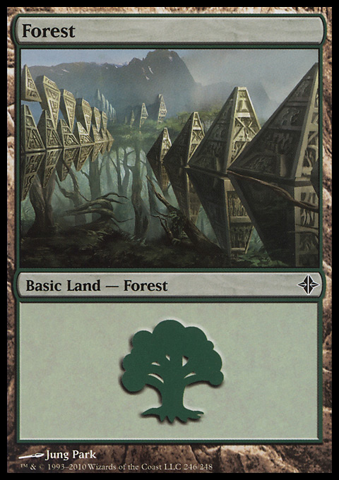Forest (246) card from Rise of the Eldrazi