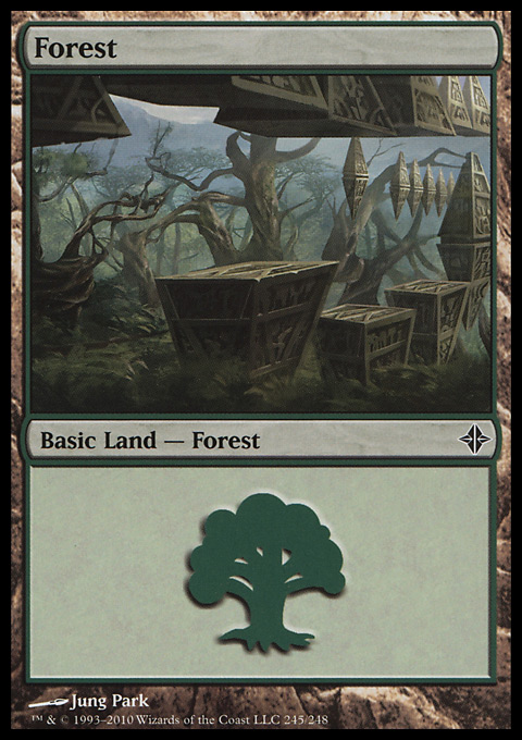 Forest (245) card from Rise of the Eldrazi