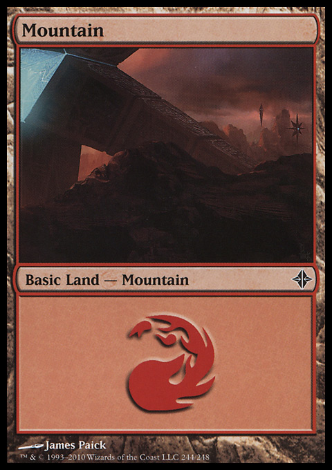 Mountain (244)  card from Rise of the Eldrazi