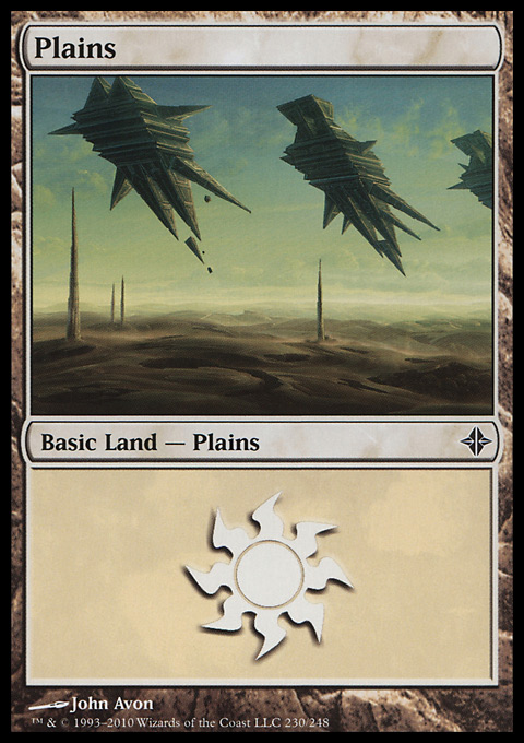 Plains (230)  card from Rise of the Eldrazi