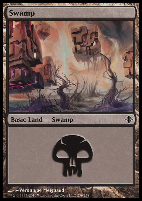 Swamp (239)  card from Rise of the Eldrazi