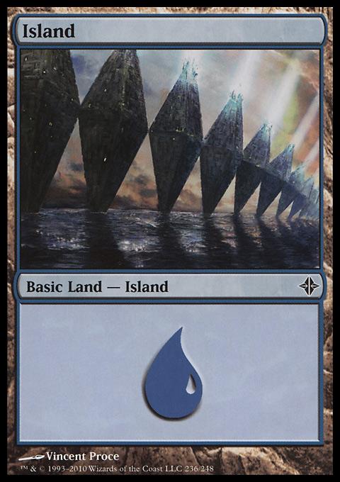 Island (236)  card from Rise of the Eldrazi