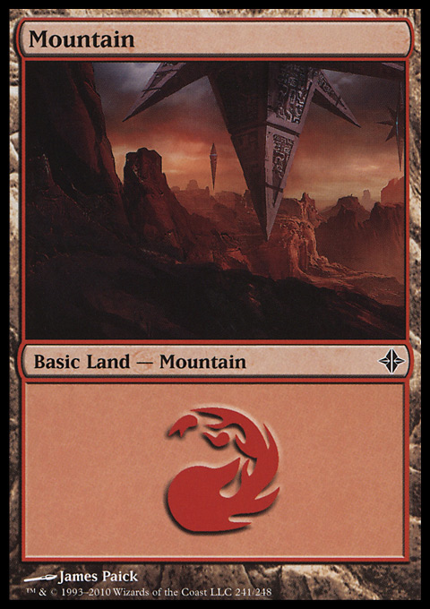 Mountain (241)  card from Rise of the Eldrazi