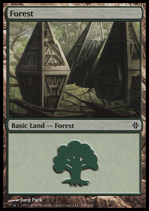 Forest (248) card from Rise of the Eldrazi