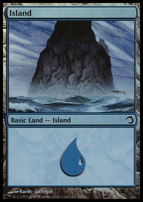 Island (38)  card from Premium Deck Series: Slivers