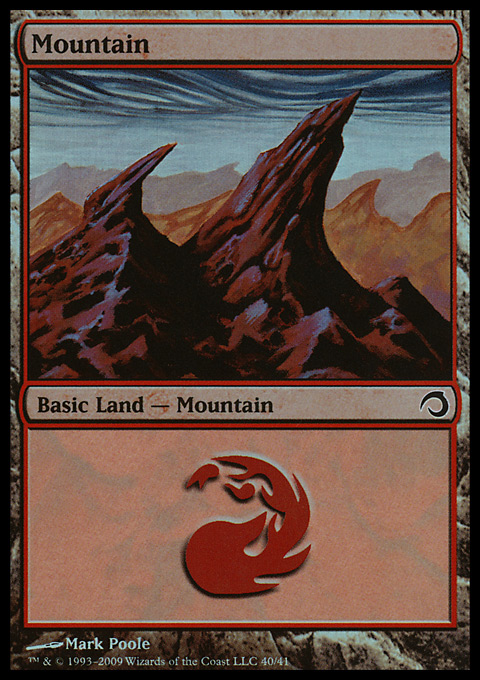 Mountain (40)  card from Premium Deck Series: Slivers