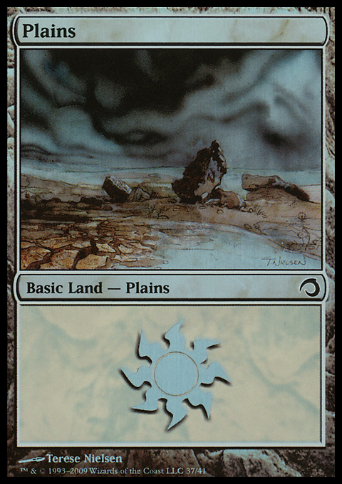 Plains (37)  card from Premium Deck Series: Slivers