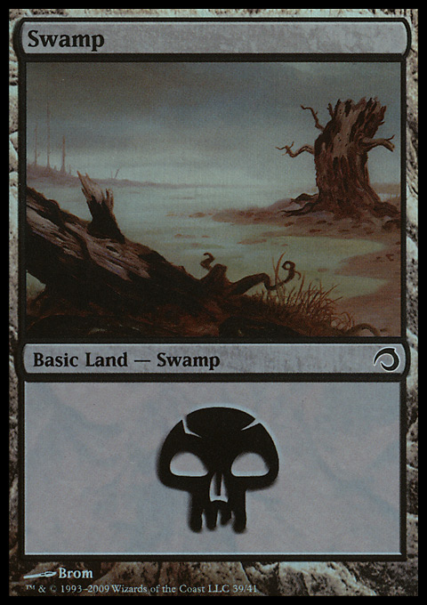 Swamp (39)  card from Premium Deck Series: Slivers