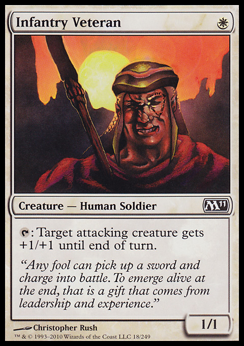 Infantry Veteran card from Magic 2011