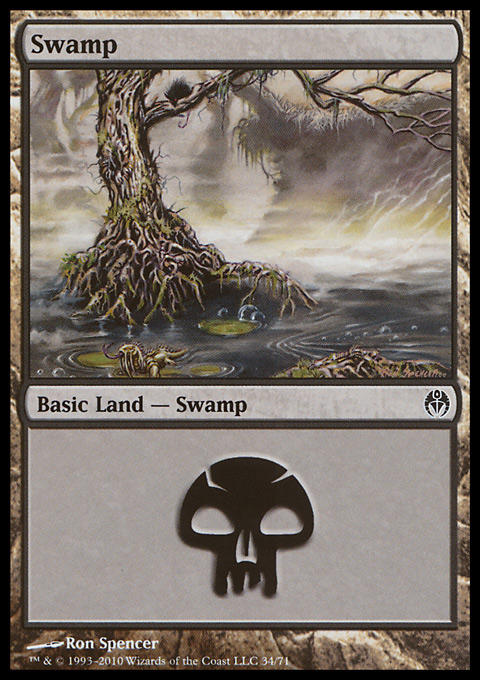 Swamp (34)  card from Duel Decks: Phyrexia vs. the Coalition