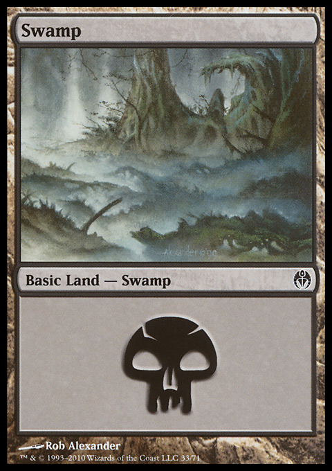 Swamp (33)  card from Duel Decks: Phyrexia vs. the Coalition