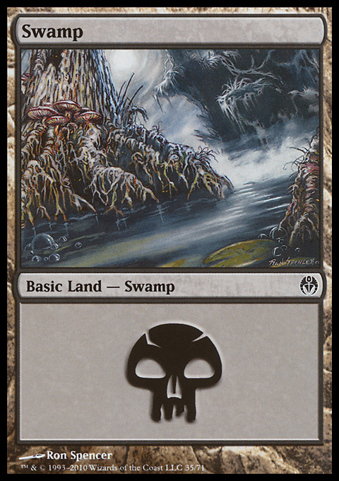 Swamp (35)  card from Duel Decks: Phyrexia vs. the Coalition