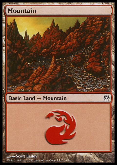 Mountain (69)  card from Duel Decks: Phyrexia vs. the Coalition