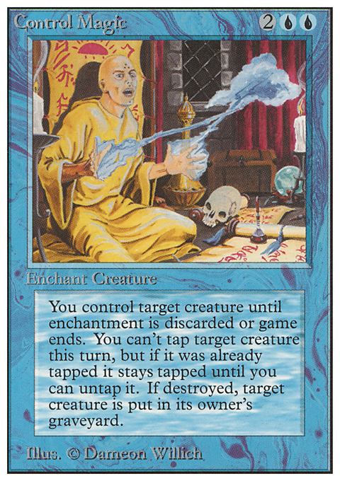 Control Magic card from Unlimited Edition
