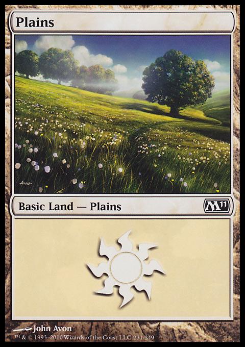 Plains (231)  card from Magic 2011