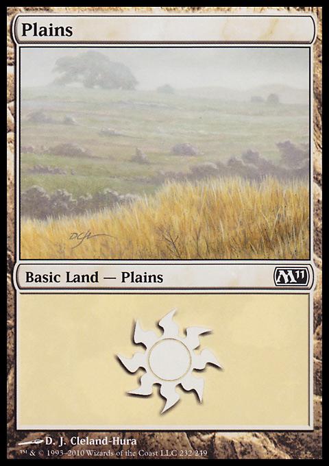 Plains (232)  card from Magic 2011
