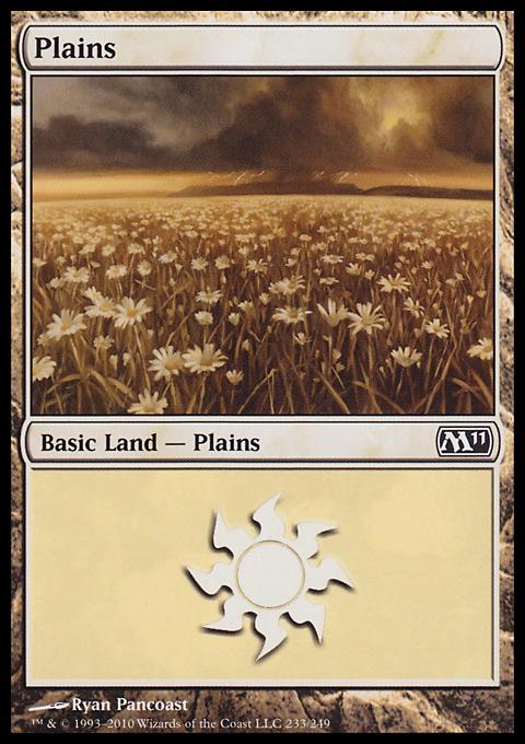 Plains (233)  card from Magic 2011