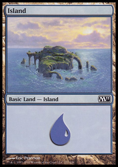 Island (237)  card from Magic 2011