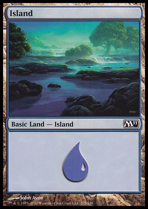 Island (235)  card from Magic 2011