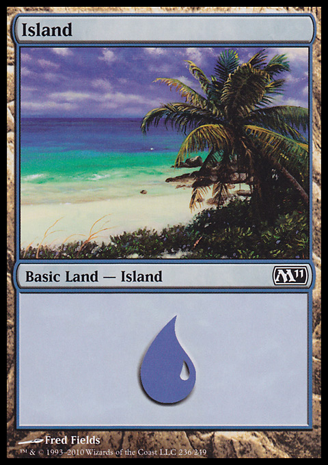 Island (236)  card from Magic 2011