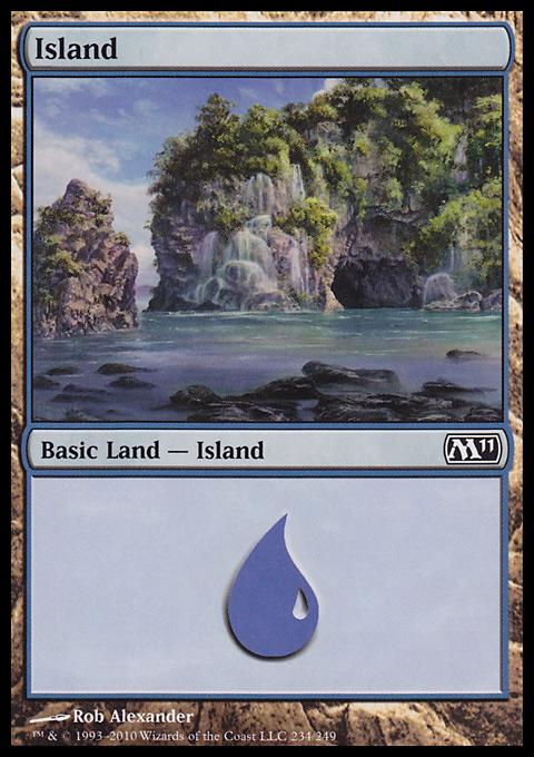 Island (234)  card from Magic 2011