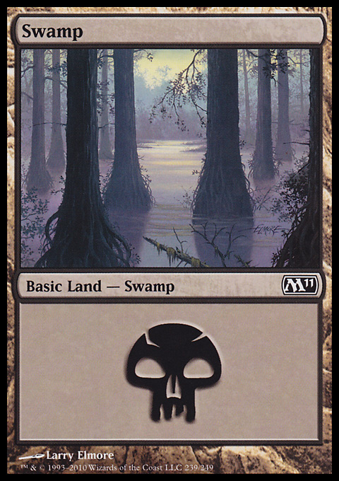 Swamp (239)  card from Magic 2011