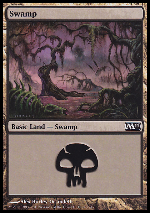 Swamp (240)  card from Magic 2011