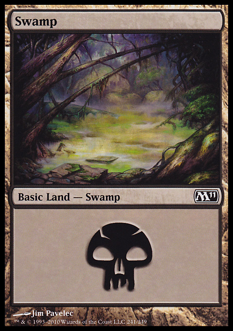 Swamp (241)  card from Magic 2011