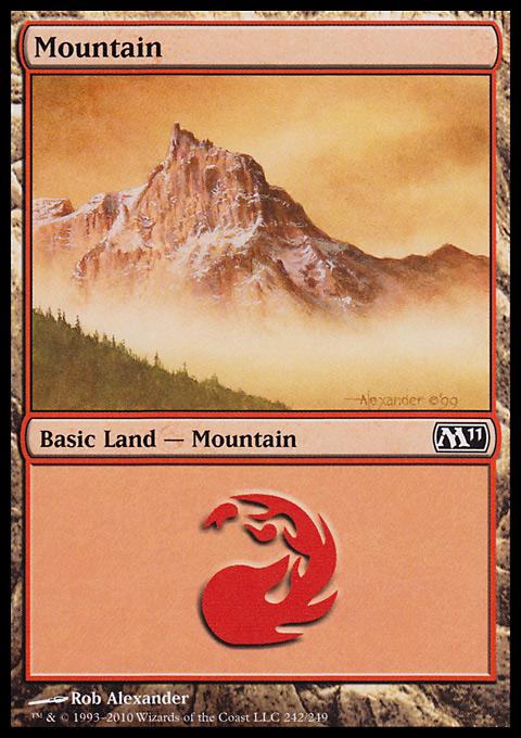 Mountain (242)  card from Magic 2011