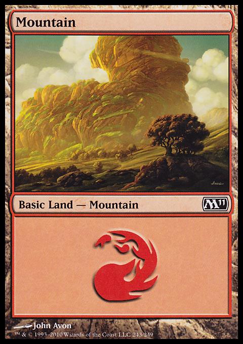 Mountain (243)  card from Magic 2011