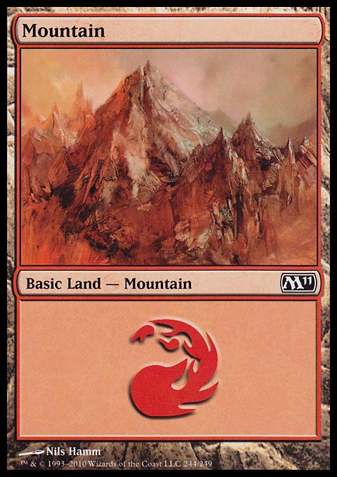 Mountain (244)  card from Magic 2011