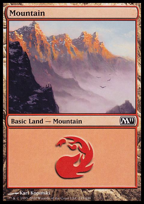 Mountain (245)  card from Magic 2011