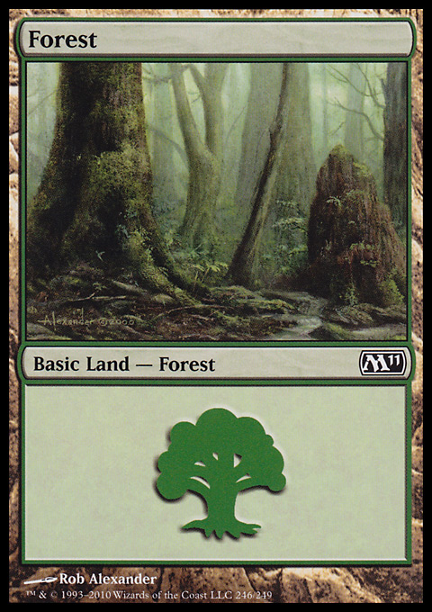 Forest (246) card from Magic 2011