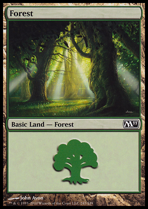 Forest (247) card from Magic 2011