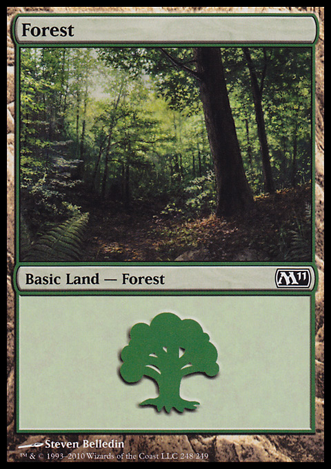 Forest (248) card from Magic 2011